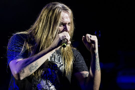 Sebastian Bach performs during the 17th annual Alice Cooper's Christmas Pudding concert on Saturday, Dec. 8, 2018, at Celebrity Theatre in Phoenix.