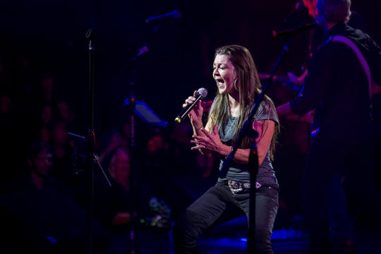 Gretchen Wilson performs during the 17th annual Alice Cooper's Christmas Pudding concert on Saturday, Dec. 8, 2018, at Celebrity Theatre in Phoenix.