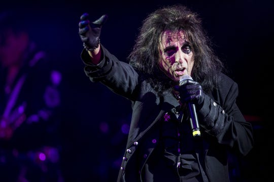 Alice Cooper performs in Phoenix in this Dec. 8, 2018 file photo.