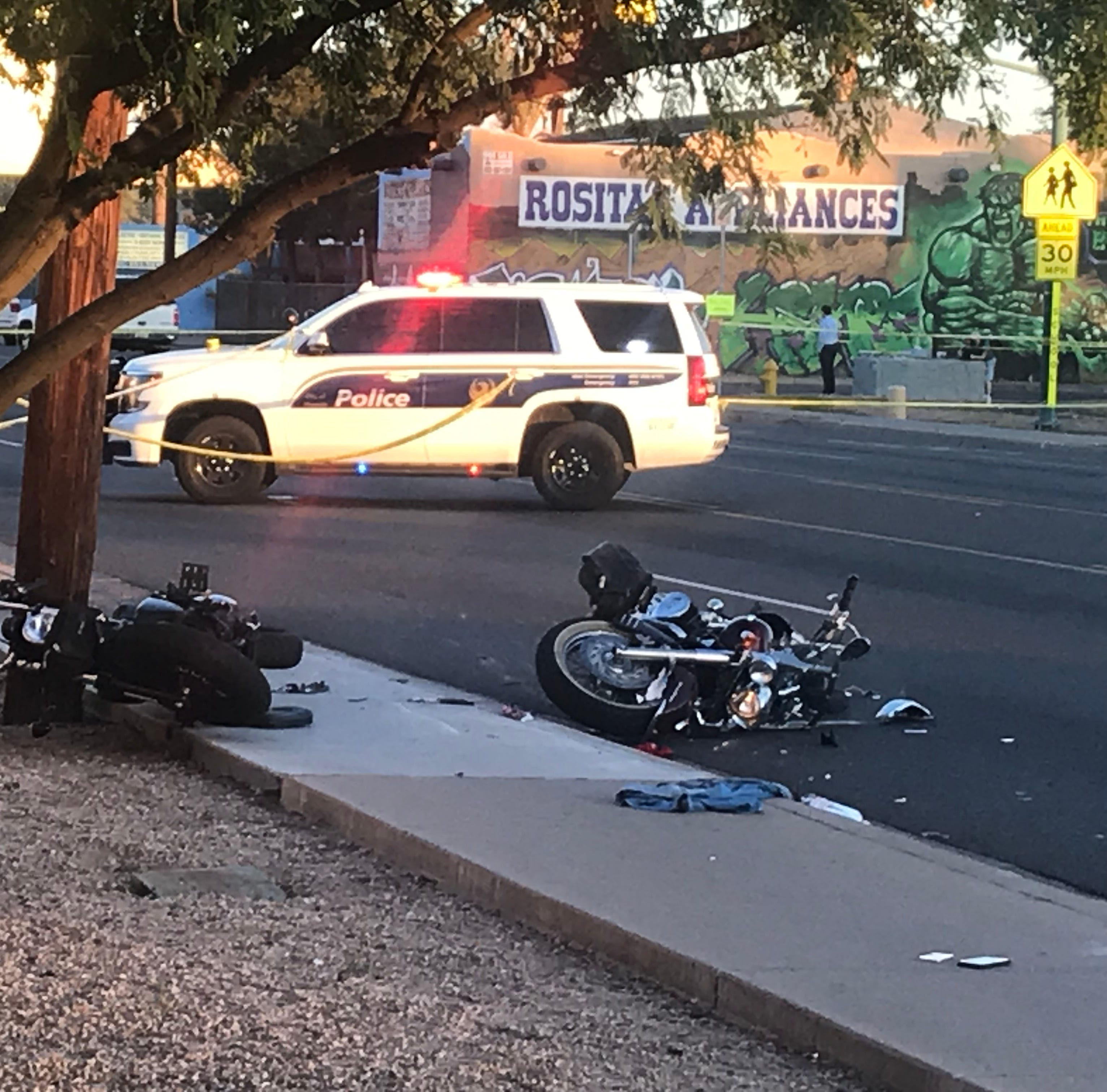 Impairment suspected in Phoenix motorcycle crash, police searching for 3rd driver