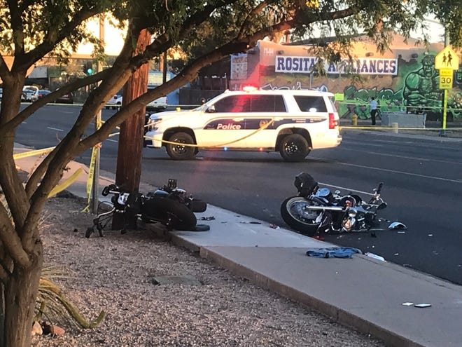 Several streets were closed in the area of McDowell Road and 28th Street in Phoenix after a crash Dec,. 8 involving motorcycles.