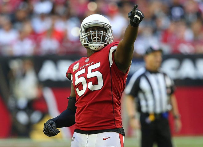 """""""I don't feel older, and I had a pretty decent year last year, and I feel even better with some of this time off, my body got some time to rest. So why not? Why can't I break the  (NFL season sack) record?"""" Arizona Cardinal linebacker Chandler Jones asked."""