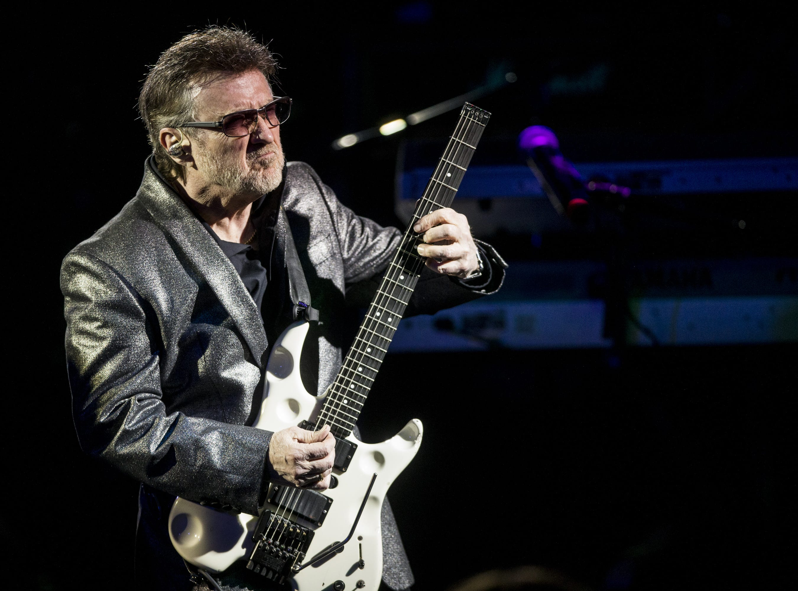 Buck Dharma of Blue Oyster Cult performs during the 17th annual Alice Cooper's Christmas Pudding concert on Saturday, Dec. 8, 2018, at Celebrity Theatre in Phoenix.
