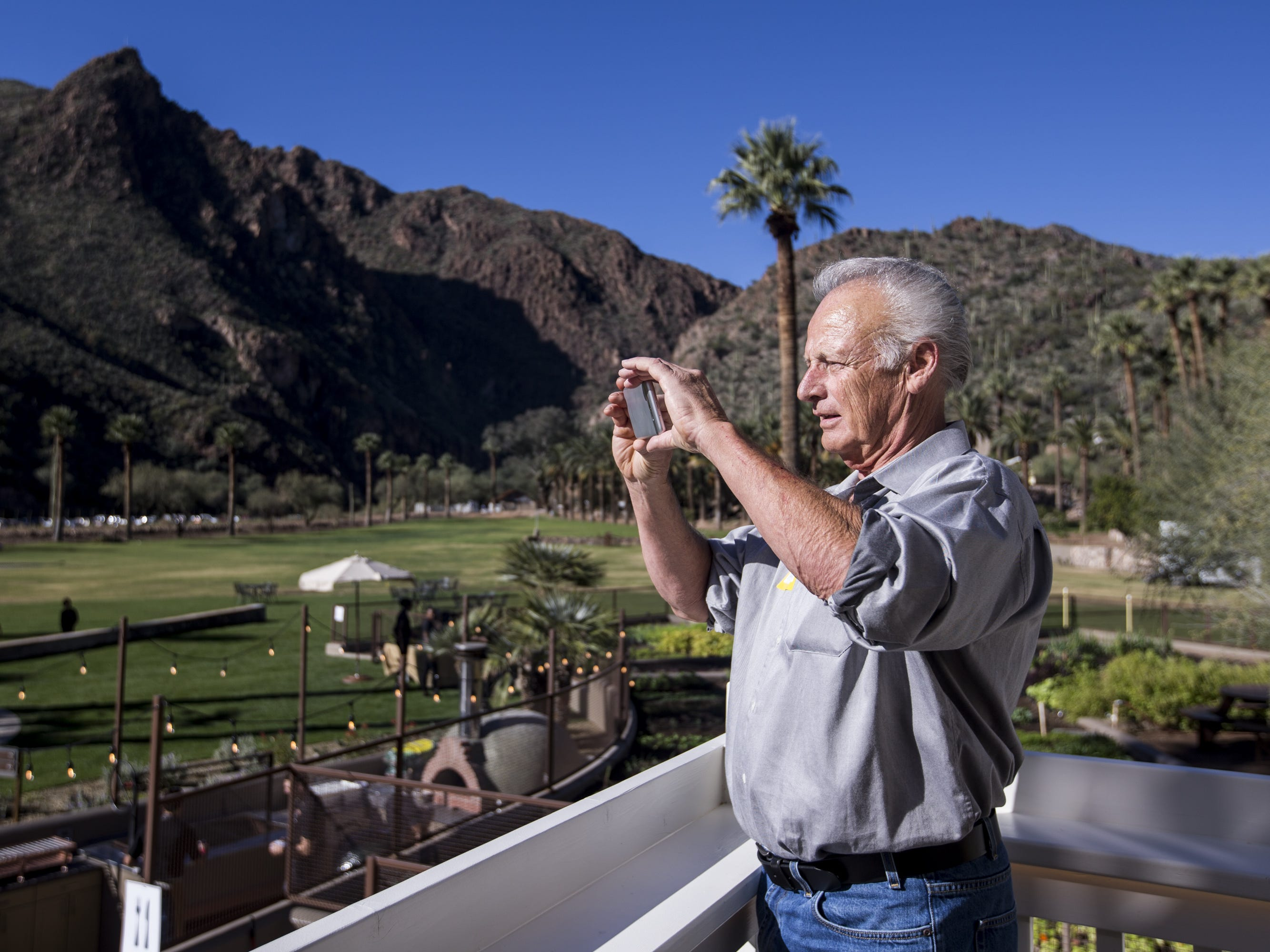 Garry Thorn takes photos of the newly renovated Castle Hot Springs resort is pictured on Saturday, Dec. 8, 2018, in Morristown, Ariz. It has been 50 years since the resort has hosted any guests.