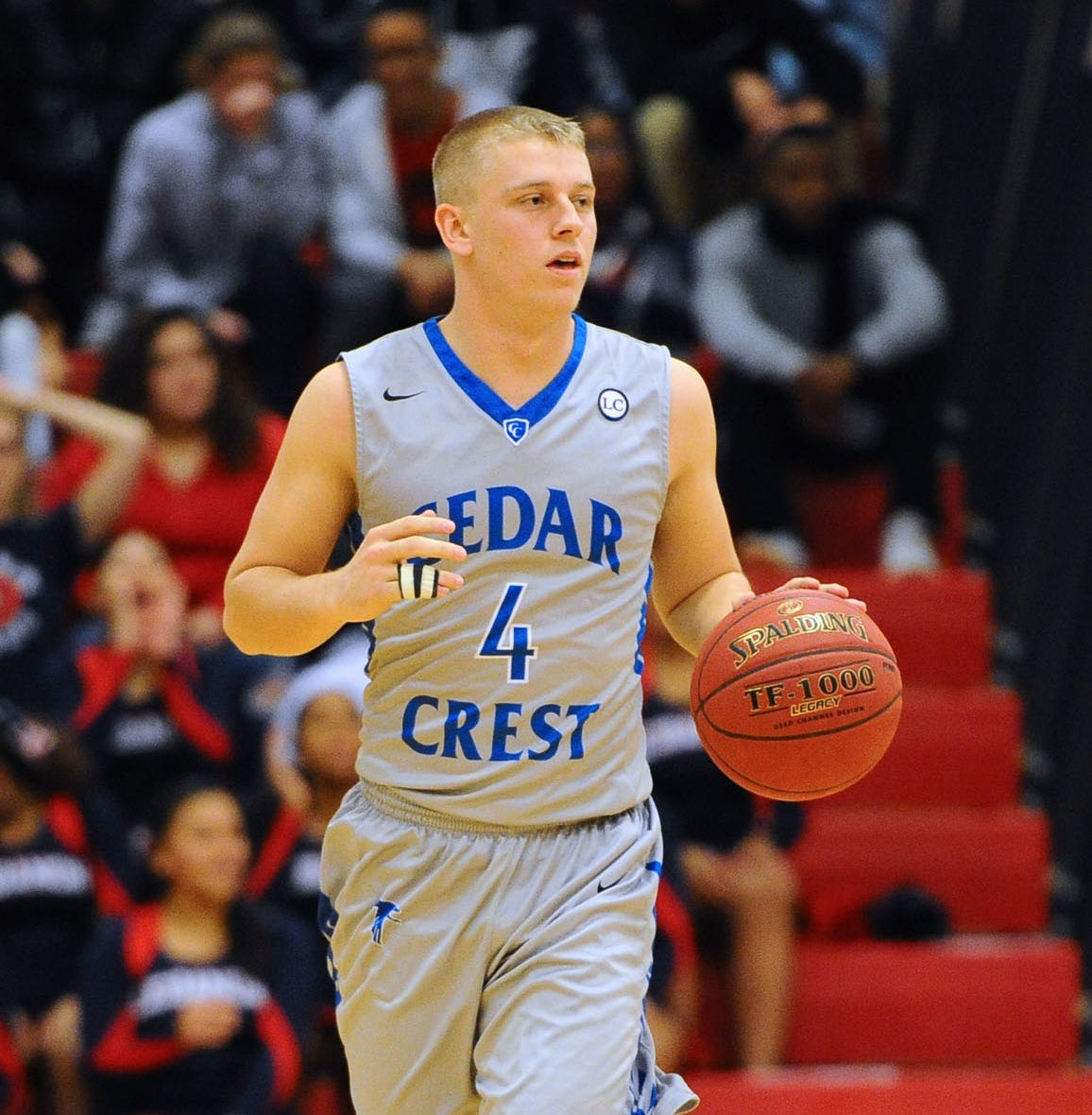 Cedar Crest's Logan Horn poured in 32 points to earn tournament MVP honors and lead the Falcons to a 53-43 win over Lebanon last Saturday night.