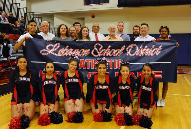 The Lebanon High Athletic Hall of Fame welcomed new members John Barnhart, Paul Blackburn, Carlos Sanchez, Anthony Trautman and Tom Strohman on Saturday night.