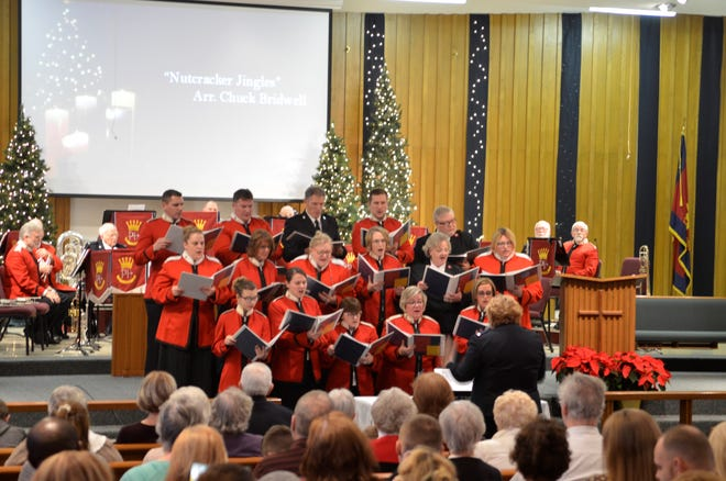 "The Citadel Songsters sing ""Nutcracker Jingles,"" as part of the Salvation Army's 2018 Community Carol Sing on Sunday, Dec. 9, 2018."