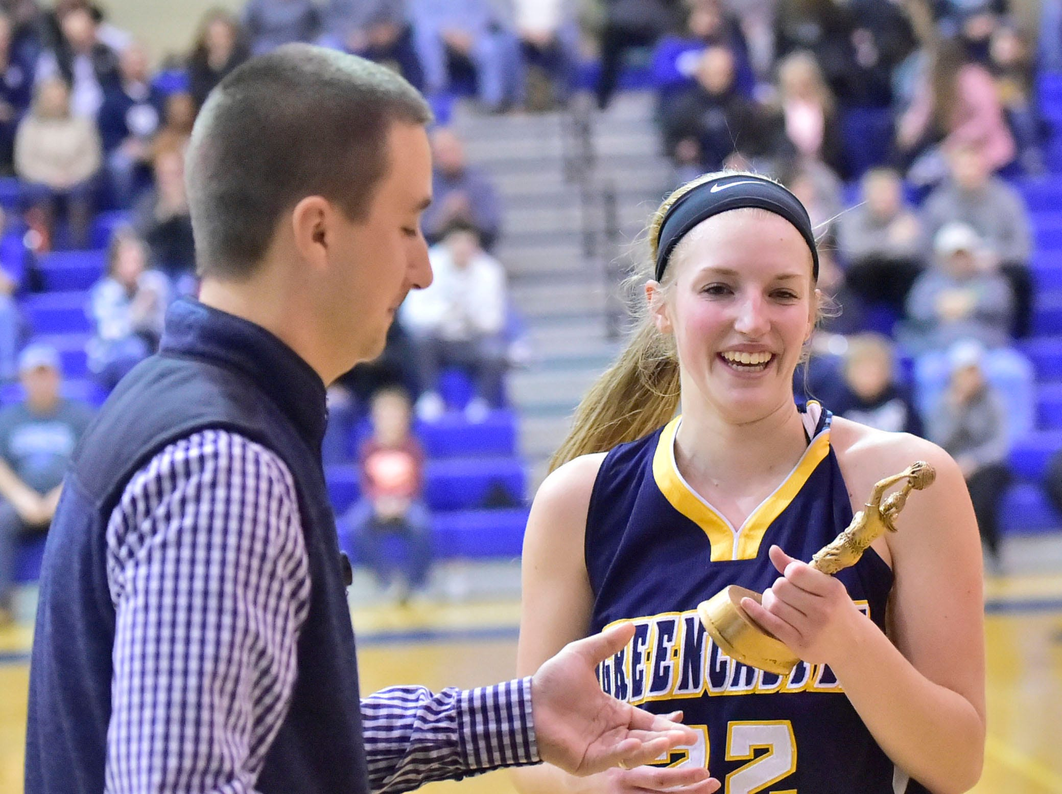Greencastle's Lydia Crist is the tournament MVP. Greencastle defeated Chambersburg 26-22 during the finals at Franklin County Tip-Off Tournament, Saturday, Dec. 8, 2018.