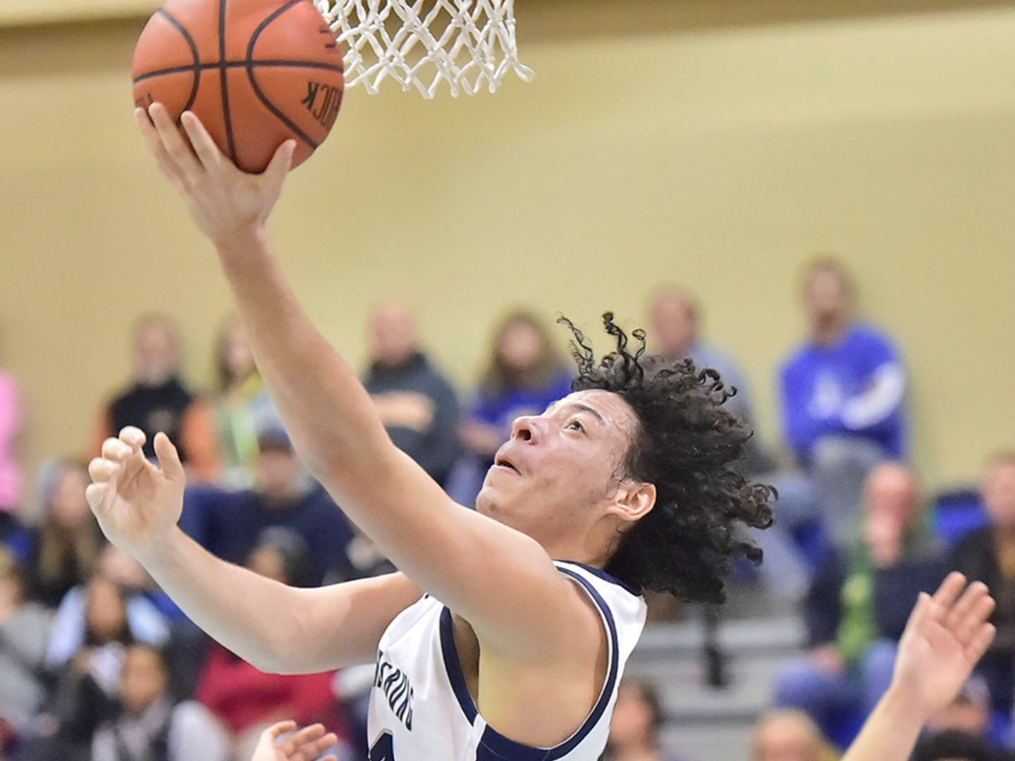 Chambersburg's Ty Holsopple does a reverse layup against Waynesboro. Chambersburg lost Waynesboro 42-39 during the finals at Franklin County Tip-Off Tournament, Saturday, Dec. 8, 2018.