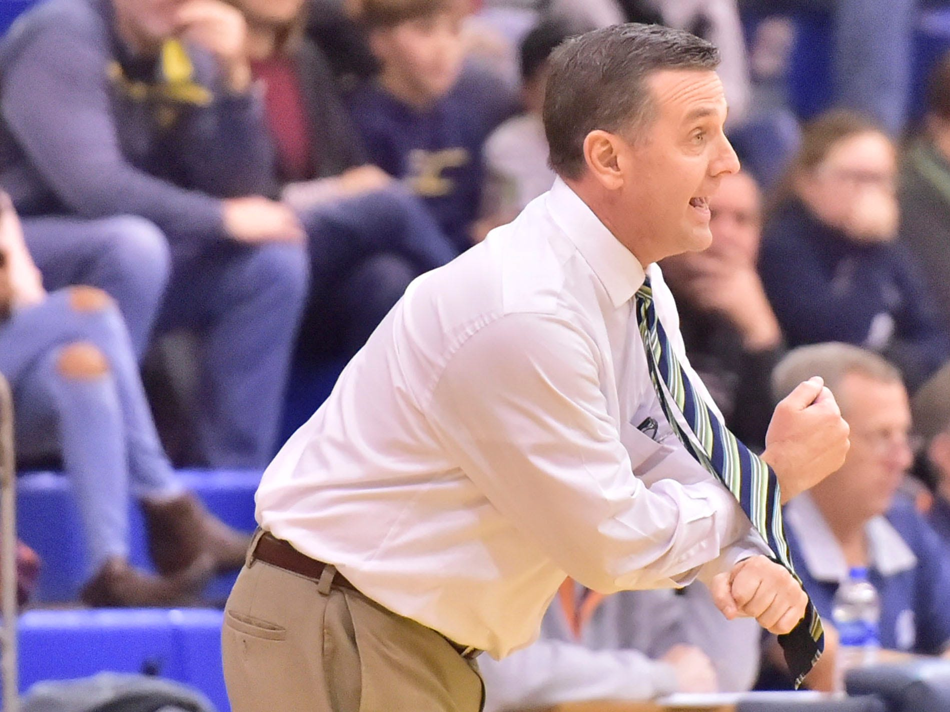 Waynesboro's coach Tom Hoffman leads his Indians. Chambersburg played Waynesboro during the finals at Franklin County Tip-Off Tournament, Saturday, Dec. 8, 2018.