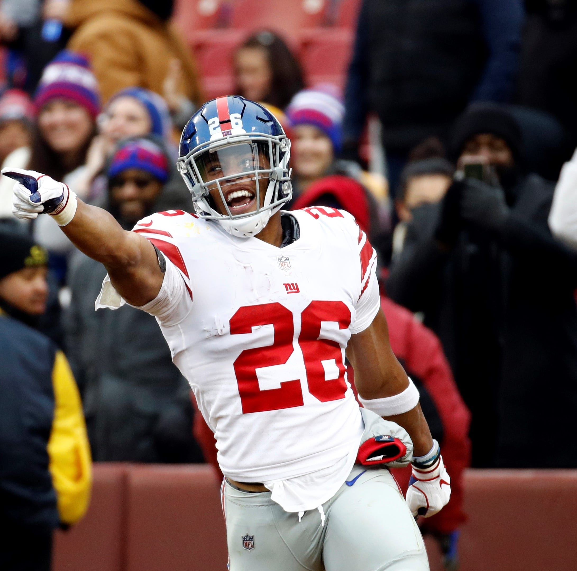Saquon Barkley runs wild in New York Giants' 40-16 triumph over Washington Redskins