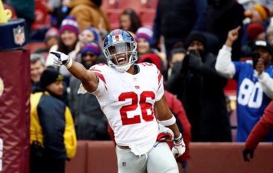 d9cea083383 Saquon Barkley runs wild in Giants  40-16 triumph over Redskins