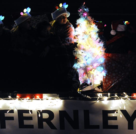 Fernley held its annual Christmas parade in the evening this year, encouraging parade entrants to wear lights.