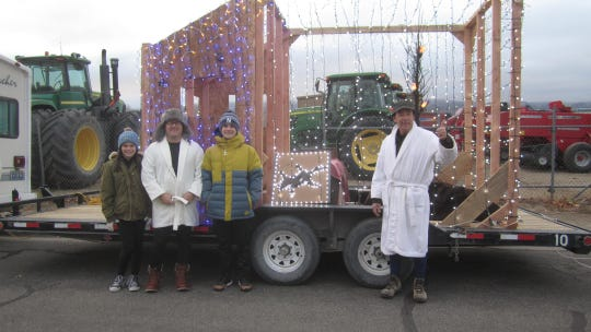 A National Lampoon's Christmas float was one of many in Yerington's second annual parade of lights.