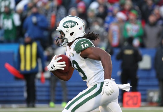 Jets kicker returner Andre Roberts gained 176 yards on 5 kickoffs against the Bills.