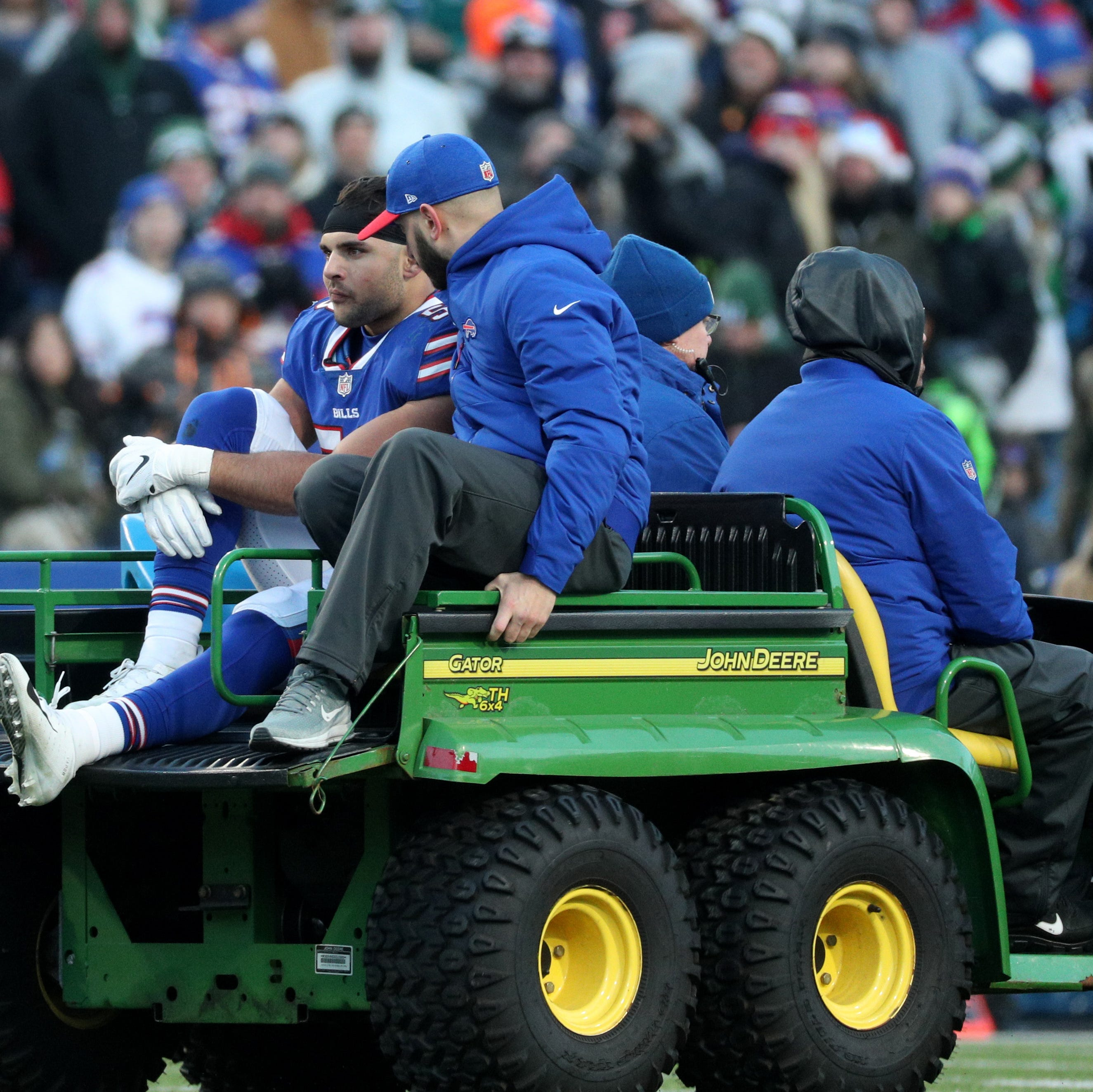 Buffalo Bills linebacker Matt Milano suffered broken leg, is out for season