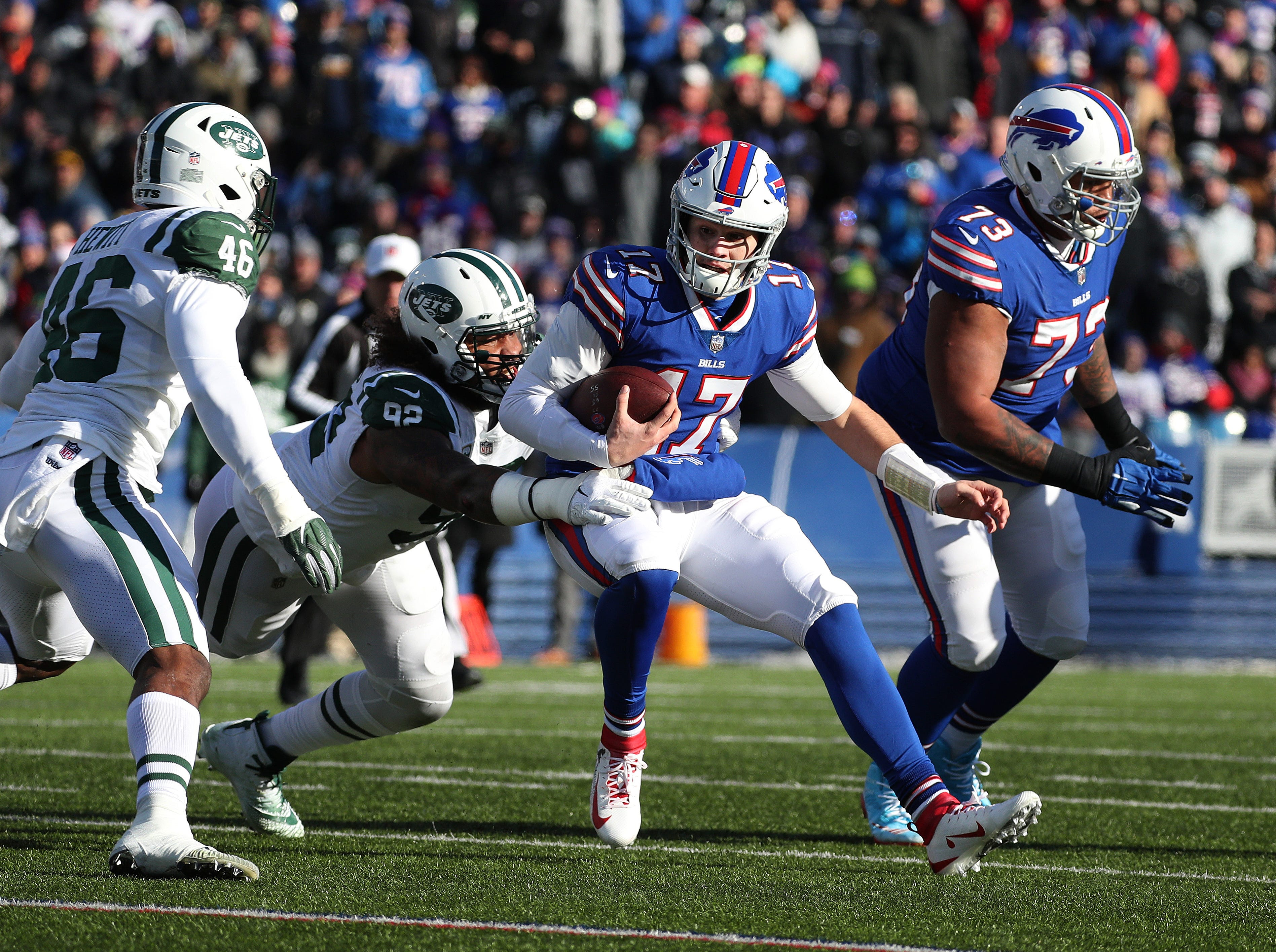 Roth: Buffalo Bills' Josh Allen can run but there's nowhere to hide after 3 turnovers