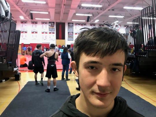 Greece senior wrestler Dillon Callaghan