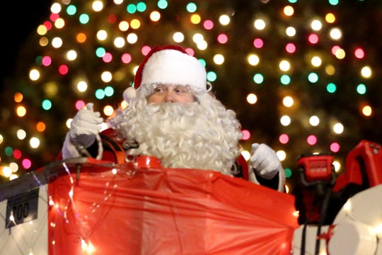 Santa's float marked the end of the Keizer Holiday Lights Parade in Keizer on Dec. 8, 2018.