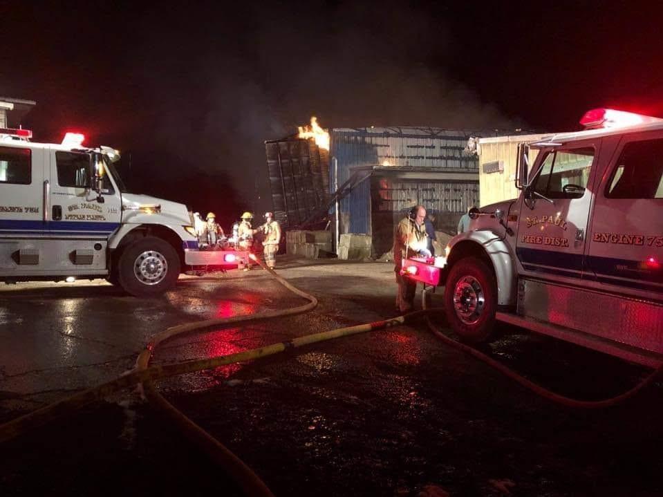 Fire destroys barn at Hazenberg Dairy near St. Paul