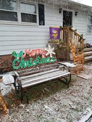 Snow falls at a Parsonsburg home on Dec. 9, 2018.