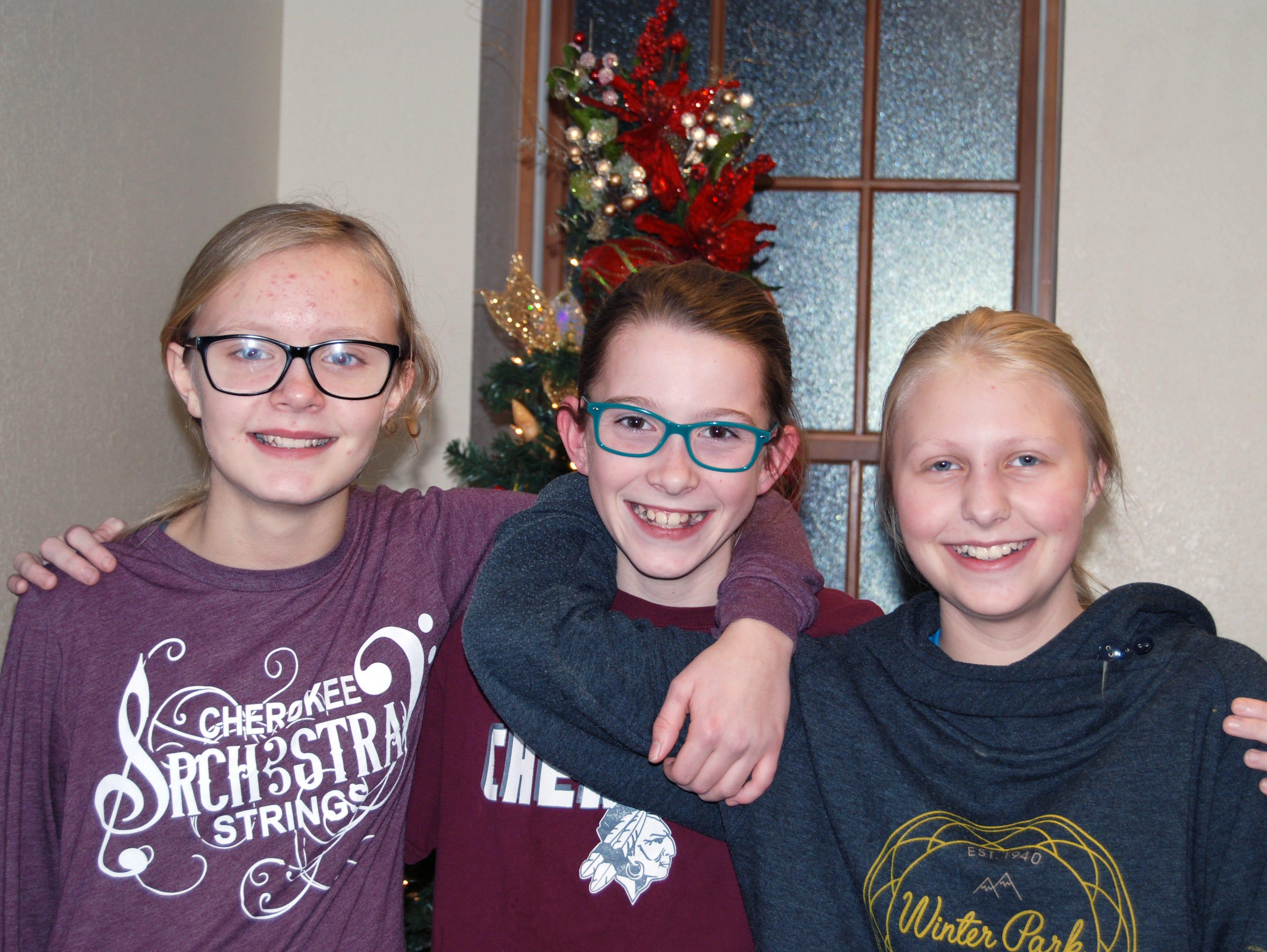 Kenzie, Brynlee and Sariah