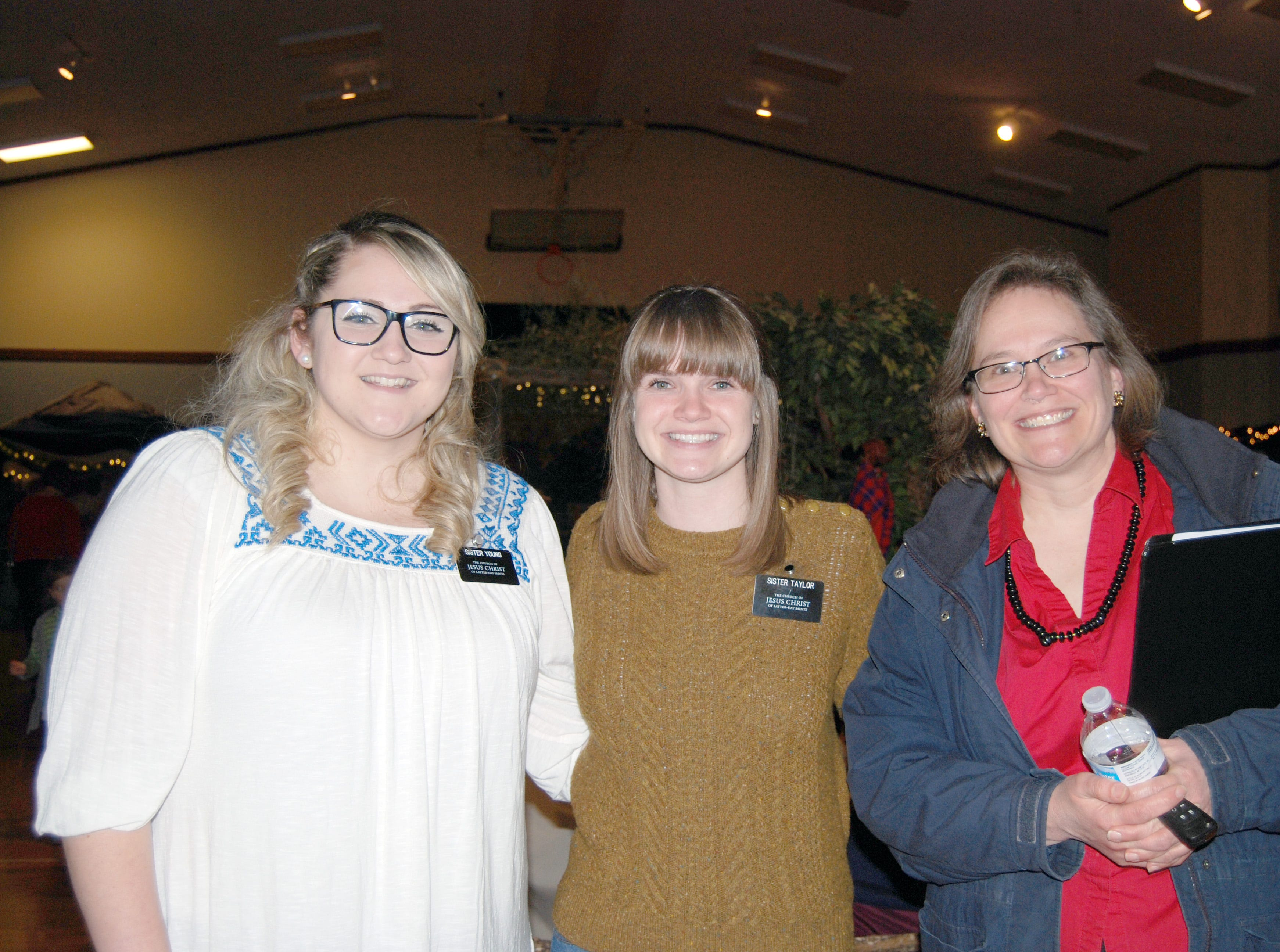 Sister Young, Sister Taylor and Becky Nield