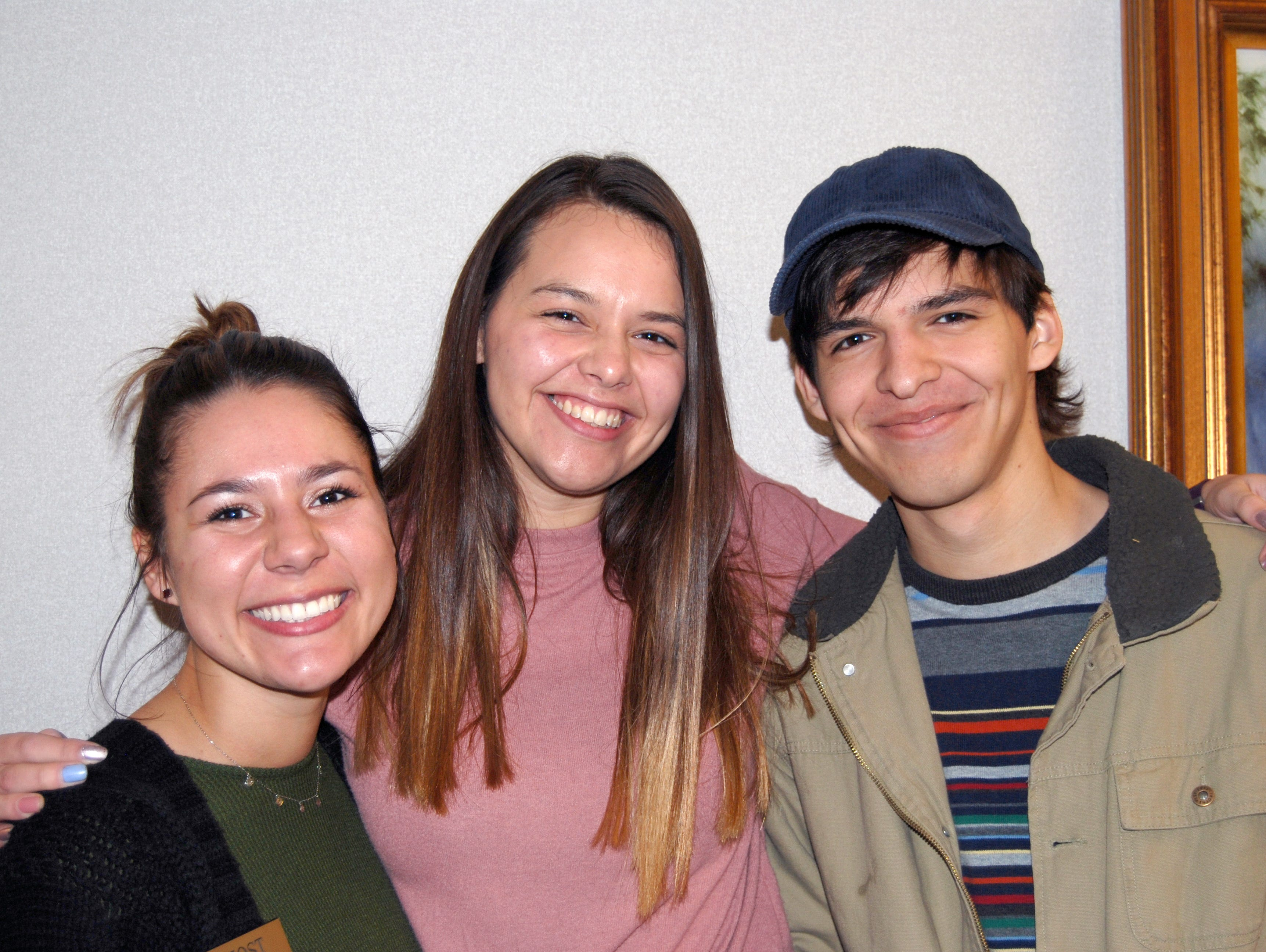 Maddy Lesue, Megan and Kevin Jolley