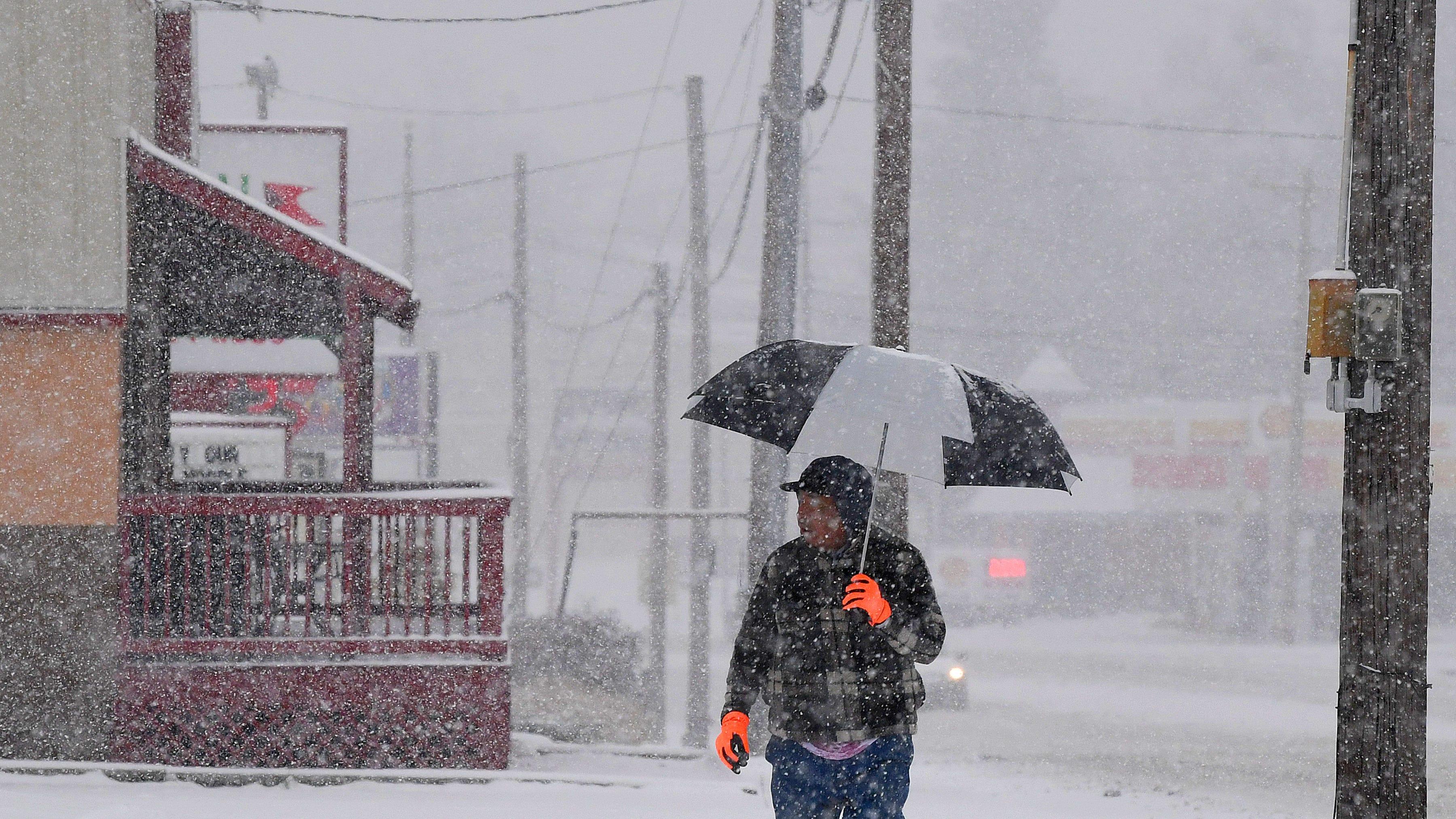 Photos: December snow rolls into Valley