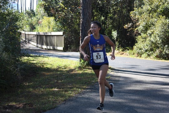 TCC's Mia Wiederkehr runs in a cross country event in 2018. She hopes to qualify for the national championship in the 800-meter dash this spring.