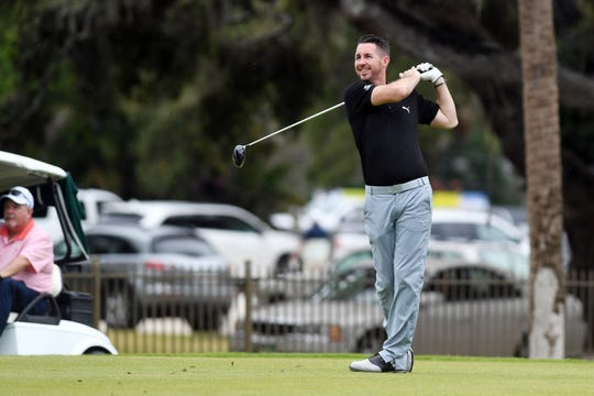 Country music star and Vero Beach native Jake Owen played with professional golfer John Daly on Sunday, Dec. 9, 2018 on the second day of the Hale Groves Indian River Grapefruit Pro-am at the Vero Beach Country Club.