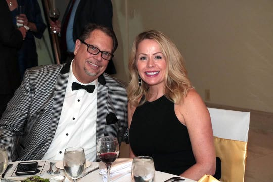 Greg and Sheryll Thogersen celebrate a night out at at CASTLE's Holiday Magic Gala on Dec.1 at the St. Lucie Golf Trail Clubhouse.