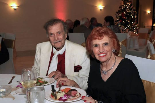 Kurt and Marilyn Wallach enjoy their meal at CASTLE's Holiday Magic Gala on Dec.1 at the St. Lucie Golf Trail Clubhouse.