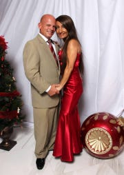 Dan Pimpo and Grace Vergis support CASTLE at the 2018 Holiday Magic Gala on Dec.1 at the St. Lucie Golf Trail Clubhouse.