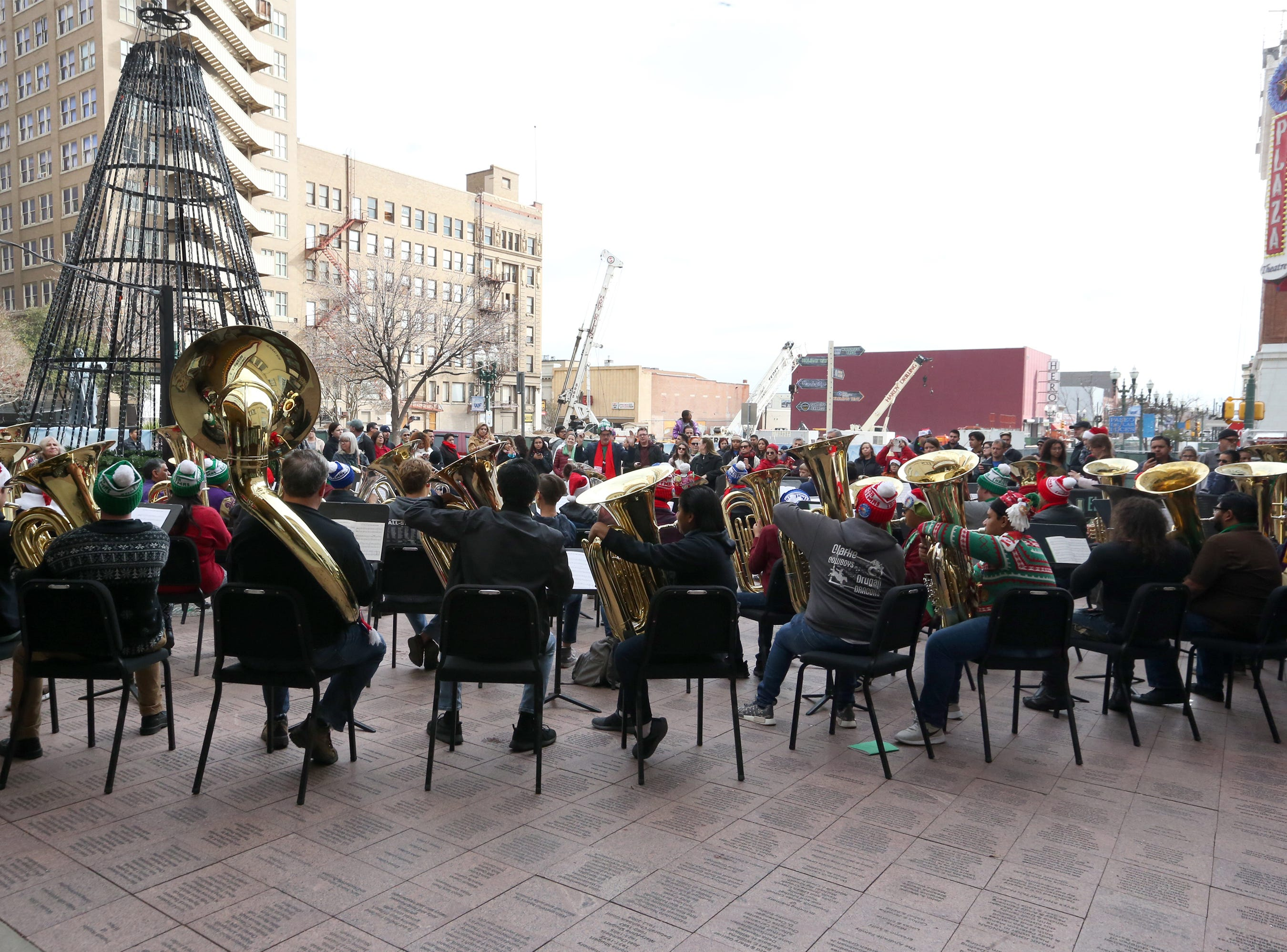 The annual Tuba Christmas concert was held Saturday in front of the Plaza Theatre in downtown El Paso. The tradition originated in New York City in 1974.