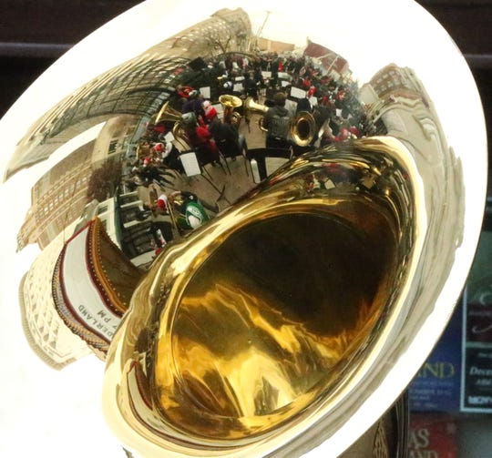 The annual Tuba Christmas concert took place Saturday in front of the Plaza Theatre in Downtown El Paso. The tradition originated in New York City in 1974.