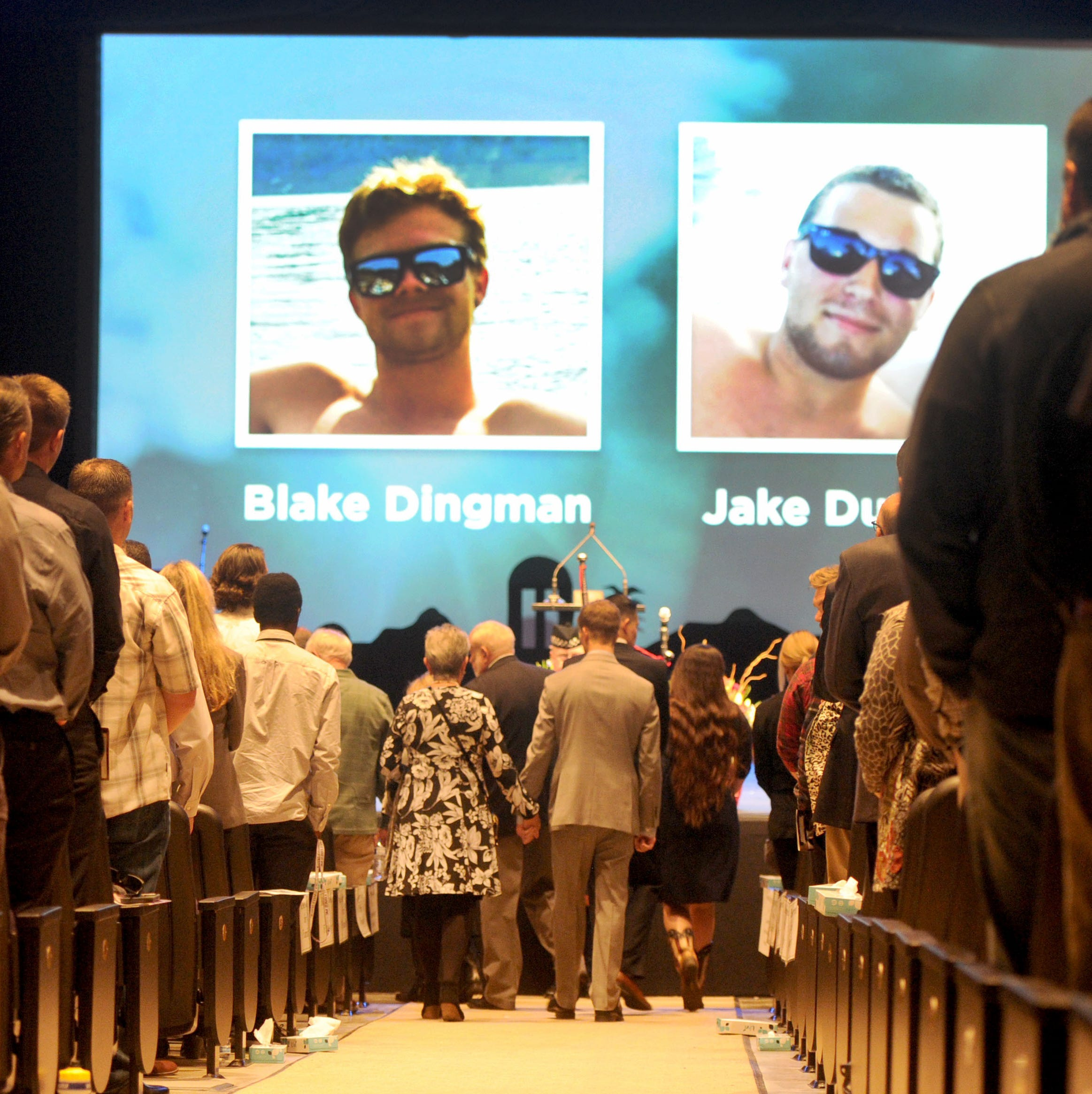 Blake Dingman and Jake Dunham, friends killed at Borderline, memorialized by thousands