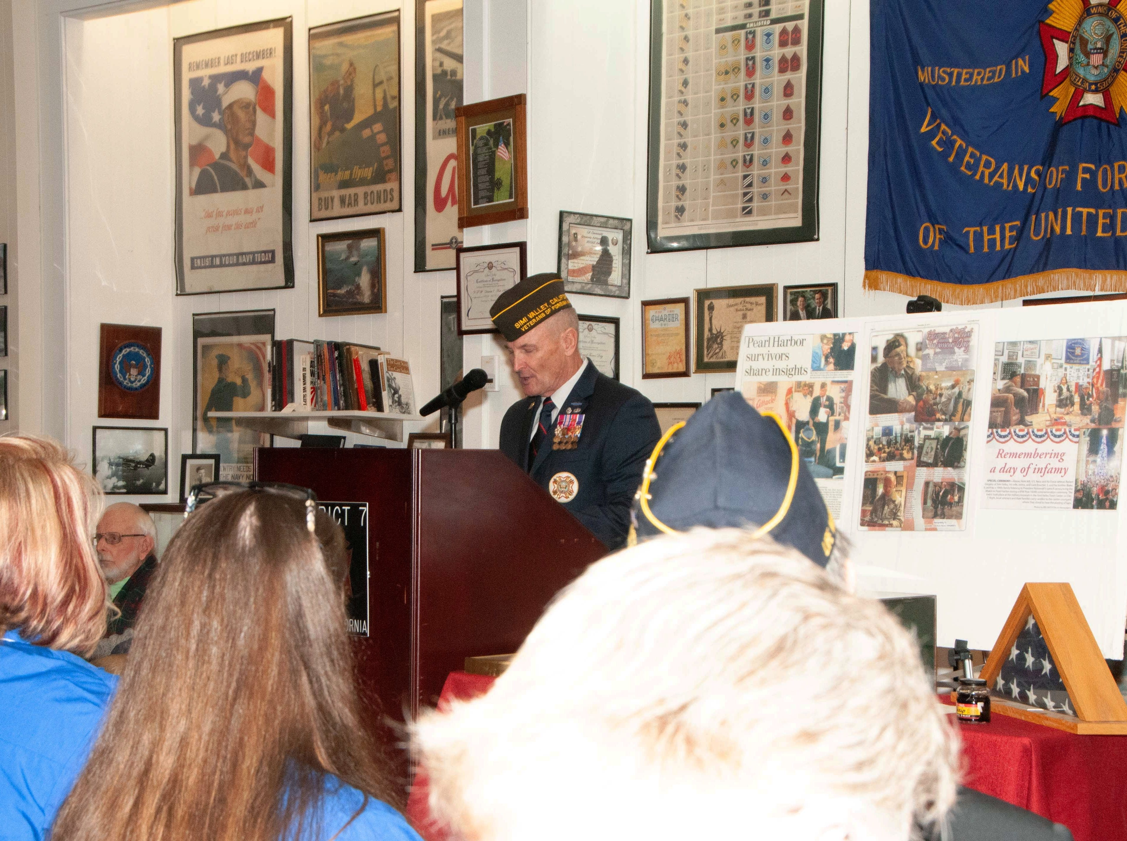 Retired U.S. Army Lt. Col. Martin Spann was the emcee during a commemoration of the 77th anniversary of the attack at Pearl Harbor, Hawaii. The event took place at the VFW Museum of Military History in Simi Valley on Dec. 7.