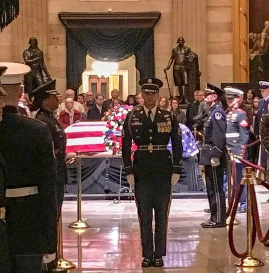 Rockland man guarded President George H.W. Bush's casket