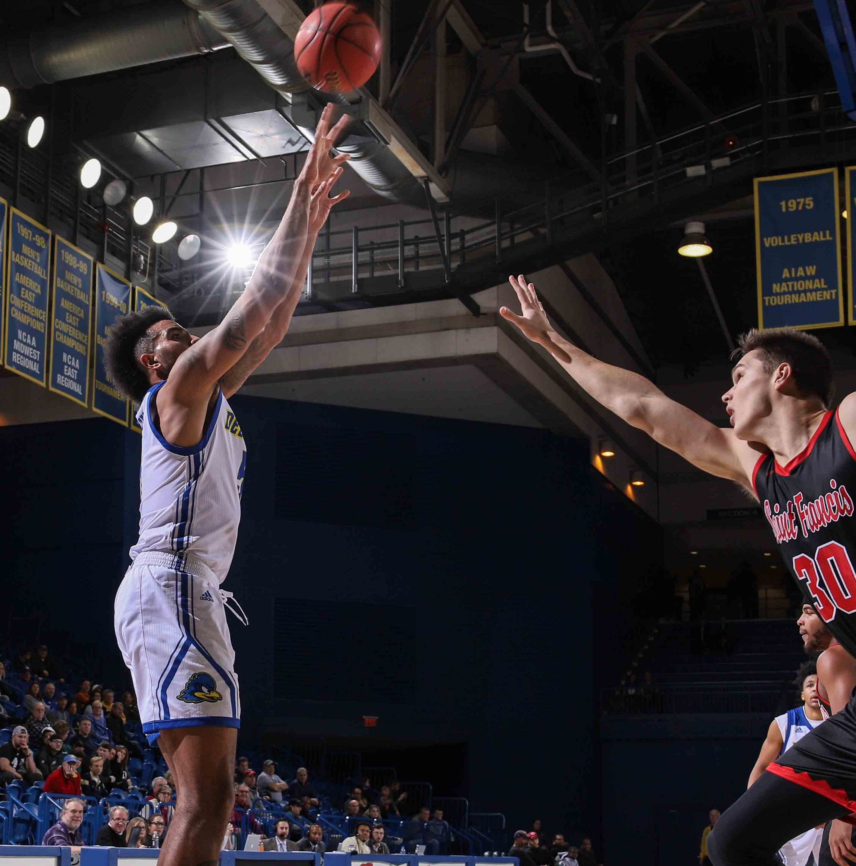 Passing the test: University of Delaware outscores St. Francis (Pa.)