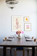 """Hang a picture inspired by this hue where you'll see it often – the kitchen, bathroom or entryway are great options – to channel its warmth when you need it,"" says Sandra Chandler, trend expert and lead buyer at Art.com."