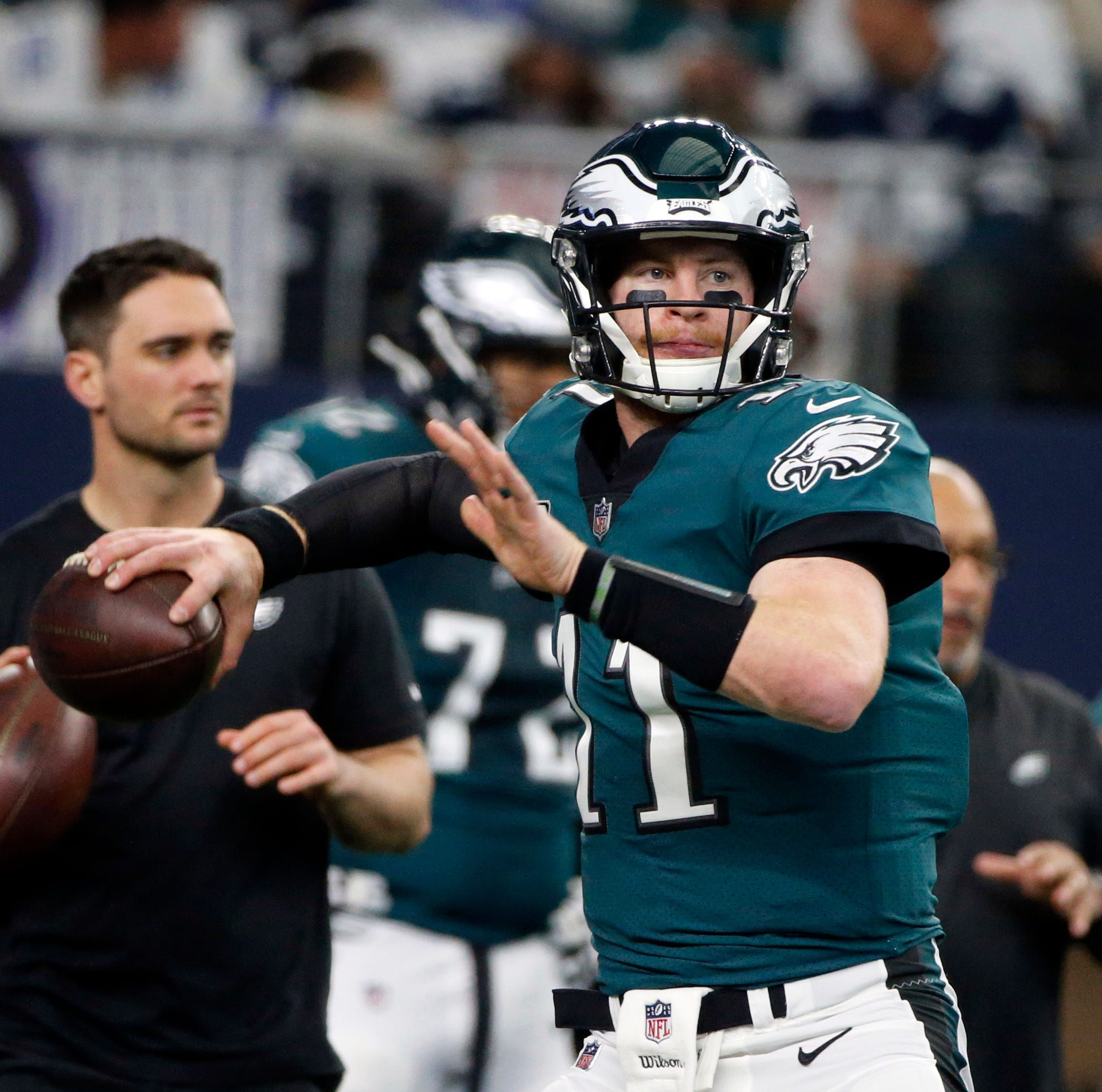Eagles quarterback Carson Wentz: Stress fracture in back not fully healed