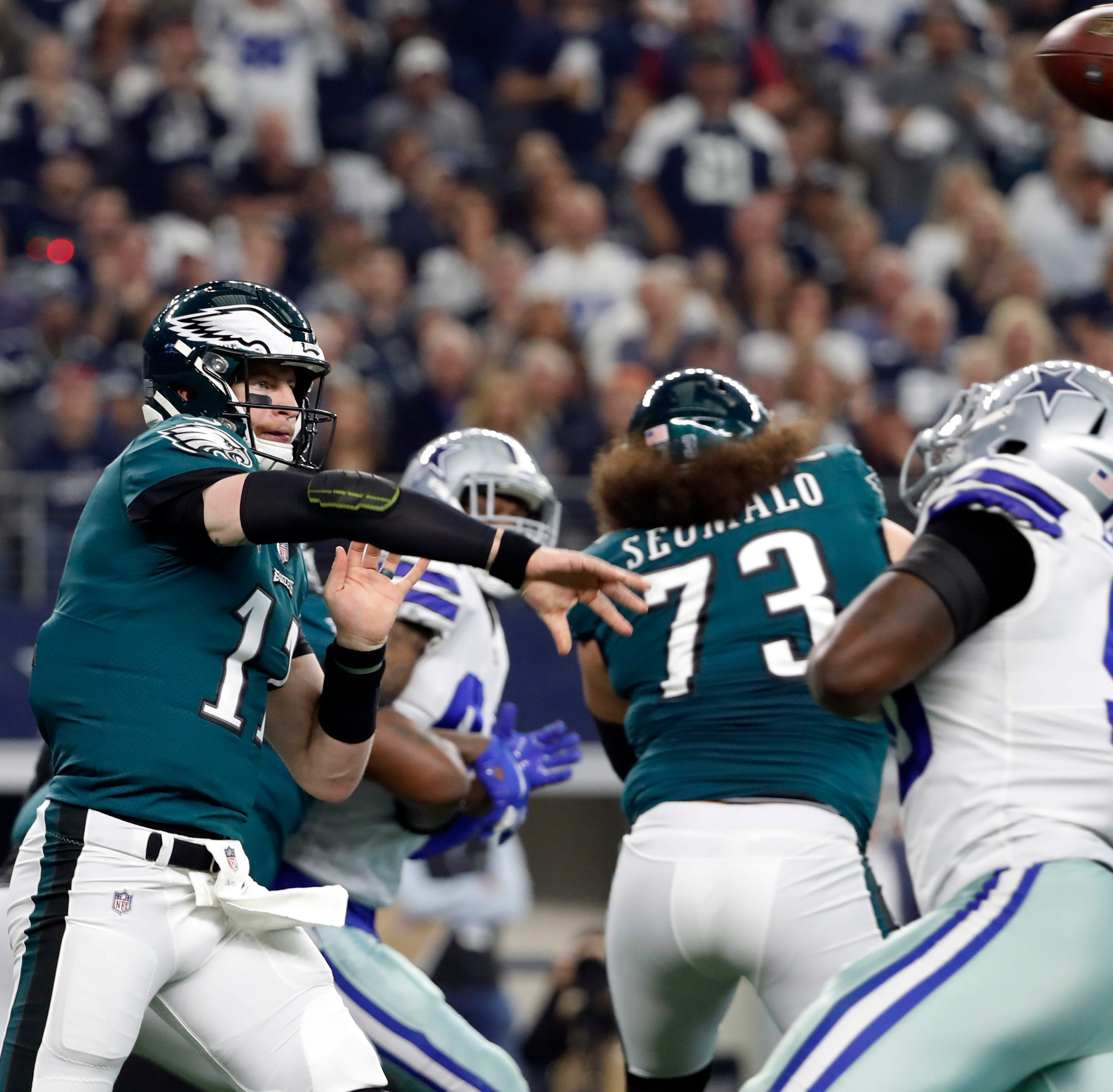 Report: Eagles' Carson Wentz out with back soreness, might not play again this season