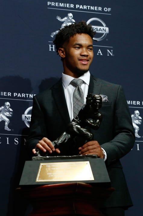 Heisman Trophy: Kyler Murray wins award ahead of Tua Tagovailoa