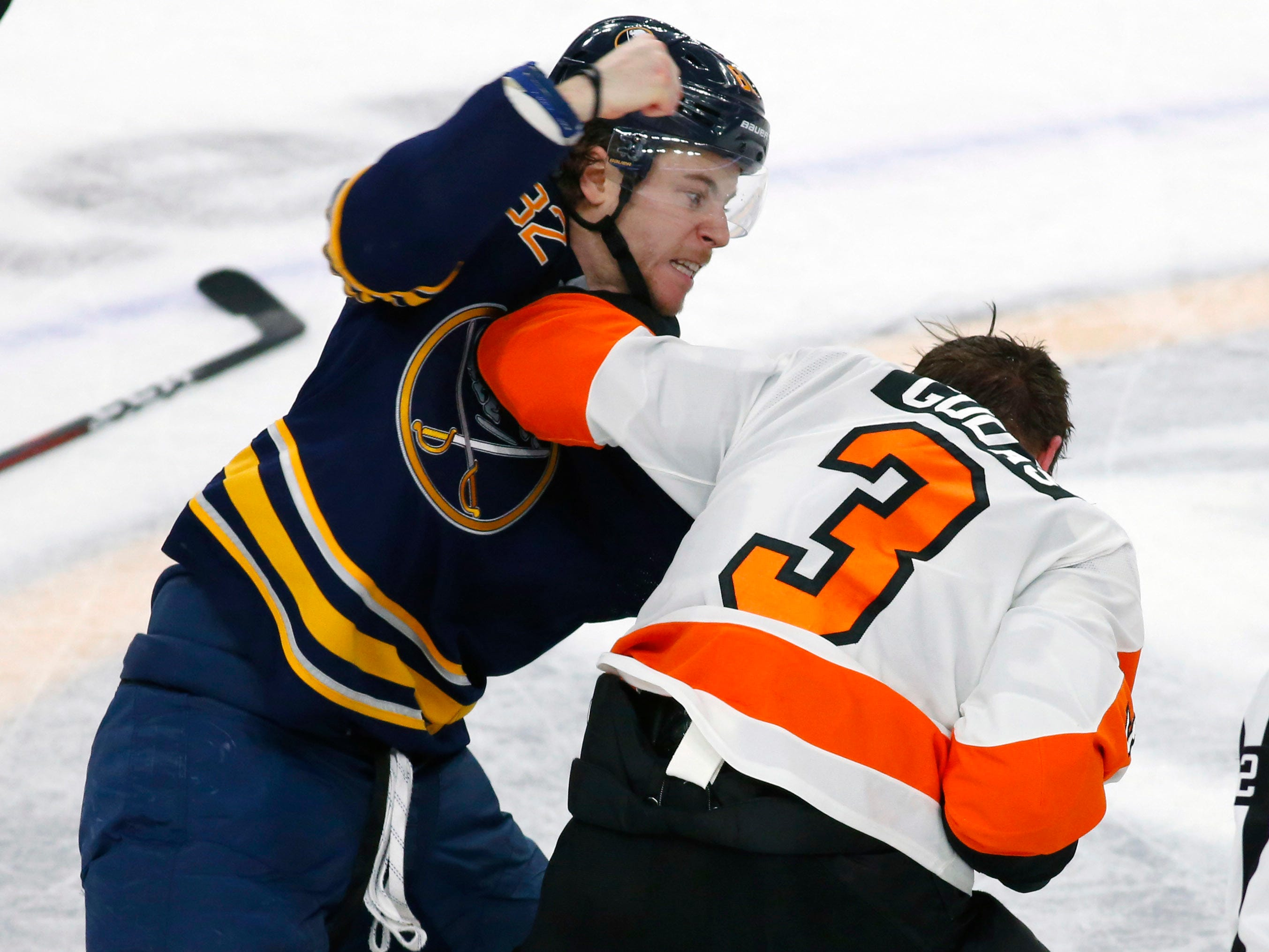 Dec. 8: Buffalo Sabres' Nathan Beaulieu vs. Philadelphia Flyers' Radko Gudas.