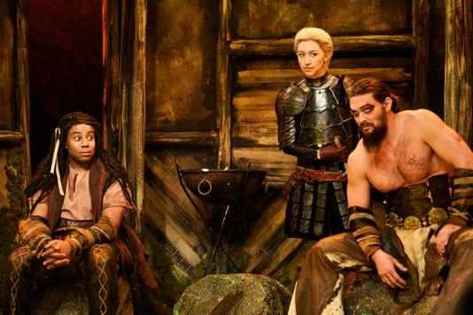 Snl Jason Momoa Resurrects Game Of Thrones Character Khal Drogo