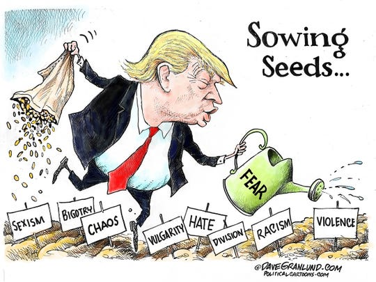 Trump sowing racism