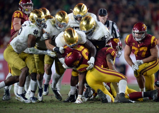 Ncaa Football Notre Dame At Southern California