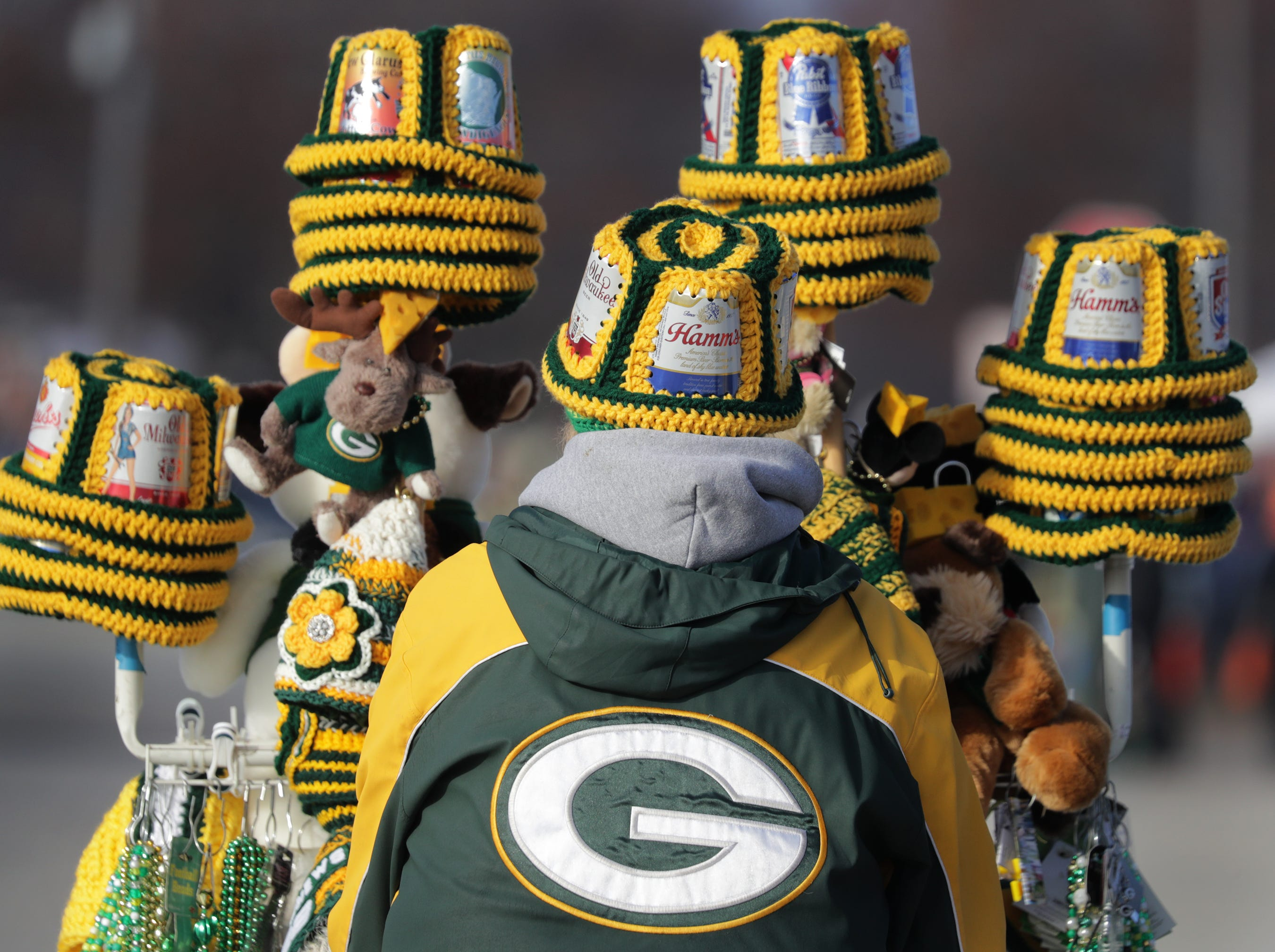 The Green Bay Packers against the Atlanta Falcons during their football game on Sunday, December 9, 2018, at Lambeau Field in Green Bay, Wis.