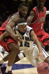 Andre Barrett playing for Seton Hall against Rutgers in an undated photo.